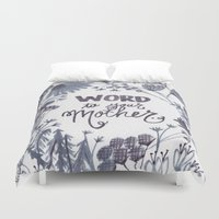 word Duvet Covers featuring word by lindsey ann