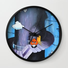 "'Sertraline' 12"" x 12"" Acrylic and Marker on Canvas 2013 Dan Gribben Wall Clock"