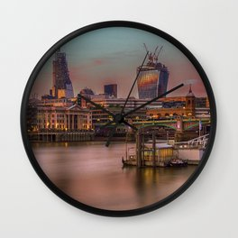 Days End in the City Wall Clock