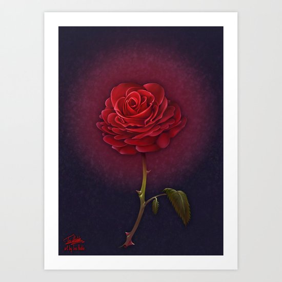 Beauty and the Beast - Enchanted Rose Art Print