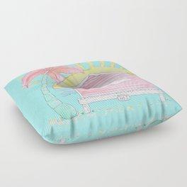 Beach Shack Vibes Floor Pillow