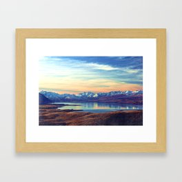 Lake Tekapo New Zealand-Fall Framed Art Print