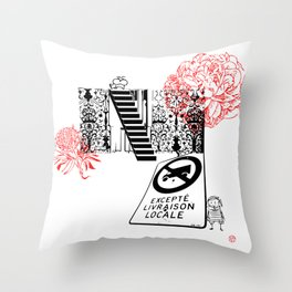 Stepping Up - What do you read from the street? Throw Pillow
