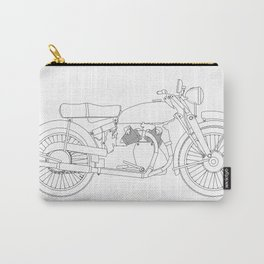Motor Cycle Outline Carry-All Pouch