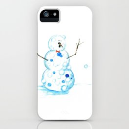 Snowman in a Snowball Fight! iPhone Case