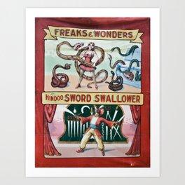Freaks And Wonders Art Print