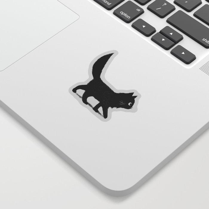 Creeping Cat Sticker