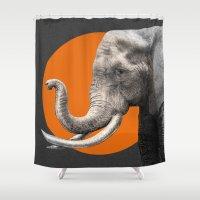 eric fan Shower Curtains featuring Wild 6 by Eric Fan & Garima Dhawan by Garima Dhawan