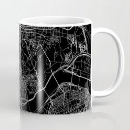 Seoul Black Map Coffee Mug