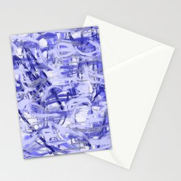 Light Blue Violet Abstract Stationery Cards