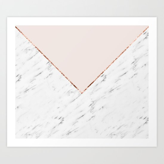 Peony blush geometric marble by marbleco