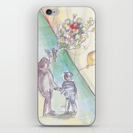 'Balloons' Watercolor Illustration Painting iPhone Skin