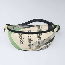 keep pitching . . keep swinging . . against racial and religious prejudice. circa 1950  oude poster Fanny Pack