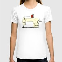 sewing T-shirts featuring Sewing machine by taichi_k