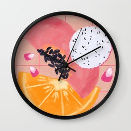 Feeling fruity - summer vibes Wall Clock