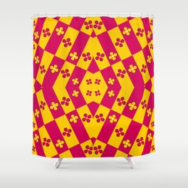 Geometric inflorescence Shower Curtain