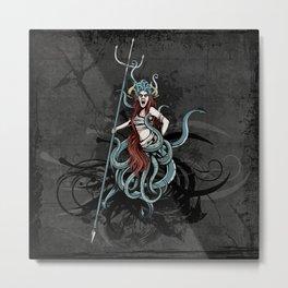 Octopus Medusa Metal Print