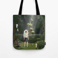 princess mononoke Tote Bags featuring Princess Mononoke by ketizoloto