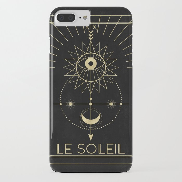 le soleil or the sun tarot iphone case