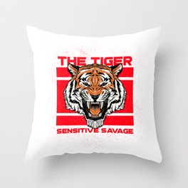 tiger for people who like sensitive savages  Throw Pillow