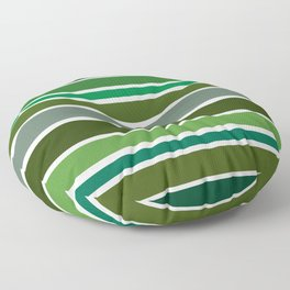 Shades of Green Floor Pillow