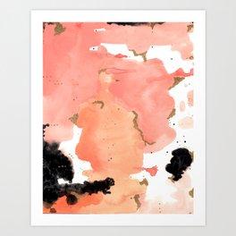Calm Coral Daydreaming Art Print