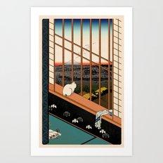 Asakusa Ricefields pixel colour Art Print