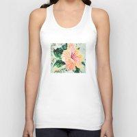 hibiscus Tank Tops featuring Hibiscus by JeleataNicole