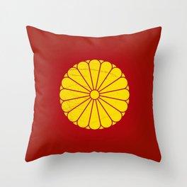 Japanese Emperor' seal Throw Pillow