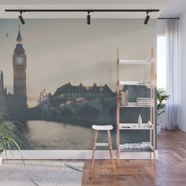 sunset over the city ... Wall Mural