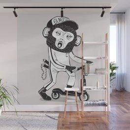 Gung Foo Chimp Wall Mural