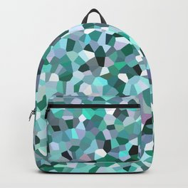 Turquoise Mosaic Pattern Backpack
