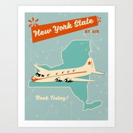 New York State vintage travel poster Art Print