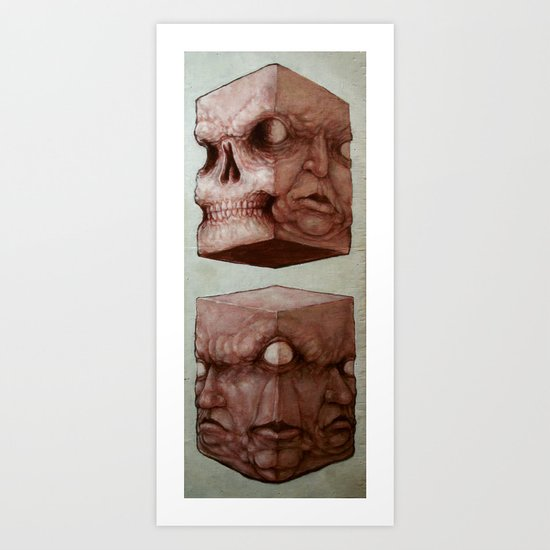 Meat Cubes Art Print
