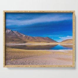Laguna Miscanti, San Pedro de Atacama Desert, Chile Serving Tray