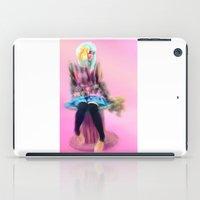 manga iPad Cases featuring Manga Girl  by Sketchy Inc