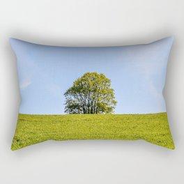 Lonely Oak in Spring Rectangular Pillow