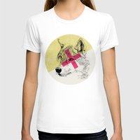 techno T-shirts featuring Techno Wolf by Zeke Tucker