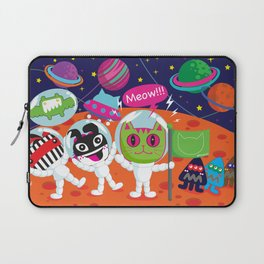 Space Cat in Cat Planet. MEOW!!! Laptop Sleeve