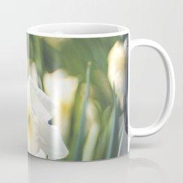 White Daffodil Narcissus Bokeh Coffee Mug