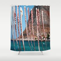 greece Shower Curtains featuring Greece #1 by lularound