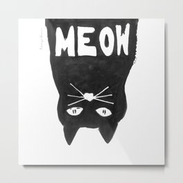 cat pillow Metal Print