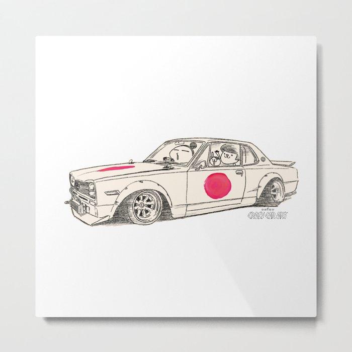 Crazy Car Art 0183 Metal Print