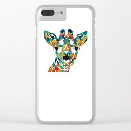Colorful Giraffe Art - Curious - By Sharon Cummings Clear iPhone Case