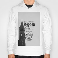 stephen king Hoodies featuring Stephen victorious by KimberosePhotography
