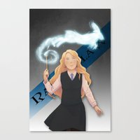 luna lovegood Canvas Prints featuring Luna Lovegood by Oochami