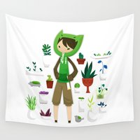 plants Wall Tapestries featuring Plants by Zennore