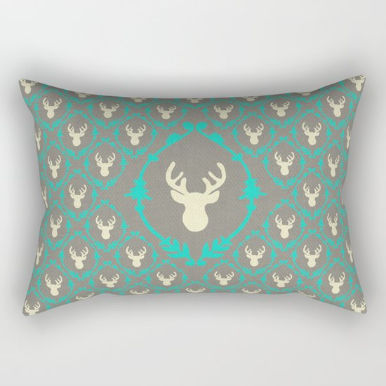 Oh Deer (white) Rectangular Pillow