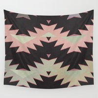 navajo Wall Tapestries featuring navajo triangles by spinL