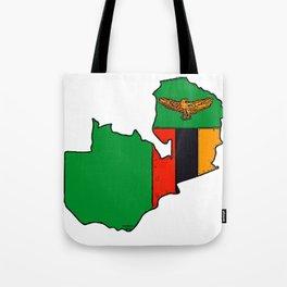 Zambia Map with Zambian Flag Tote Bag